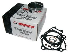 Wiseco PK1438 102.00 mm 9.9:1 Compression ATV Piston Kit with Top-End Gasket Kit Piston domes are designed for optimal quench during the compression / combustion cycle, resulting in resistance to detonation and pre-ignition; the end product is longer engine life and increased horsepower potential. Each piston is built from race proven designs that are chosen by the top race teams in all forms of r... #Wiseco #AutomotivePartsAndAccessories