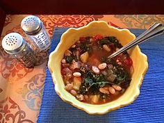 We served this soup when Deena Centofanti from Fox 2 News came to visit our home. (Click here see more about Deena's visit). Sometimes vegan sausage does not appeal to people, so to be safe, we left the vegan sausage out of this batch of soup. We also enjoyed Chickpea Salad Sandwiches and Vegan Banana …