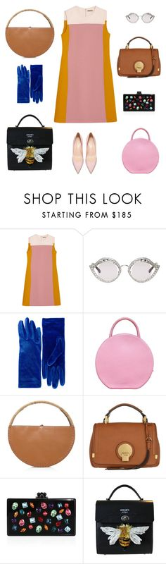 """""""Can't decide"""" by s1lence ❤ liked on Polyvore featuring Bottega Veneta, Gucci, Balenciaga, Mansur Gavriel, WAIWAI, Chloé and Edie Parker"""