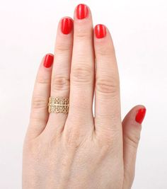 Catbird :: shop by category :: JEWELRY :: Wedding & Engagement :: Lace Ring Preppy Style, My Style, Lace Crowns, Lace Ring, Rings N Things, Very Lovely, Beautiful, Buy Buy Baby, Family Jewels