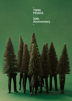 Javier Jaen Benavides - Twin Peaks - One of my teachers at IED did this awesome poster for Twin Peaks 20th anniversary.