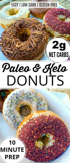 Paleo & Keto Donuts are also perfect for low carb, gluten-free and GAPS diets. Y… Paleo & Keto Donuts are also perfect for low carb, gluten-free and GAPS diets. Donuts Keto, Paleo Donut, Gluten Free Donuts, Donuts Donuts, Keto Friendly Desserts, Low Carb Desserts, Low Carb Recipes, Real Food Recipes, Gaps Diet Recipes