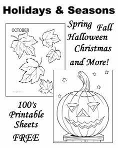 Holiday Coloring Pages - The most amazing site for Holiday coloring pages. It has everything!