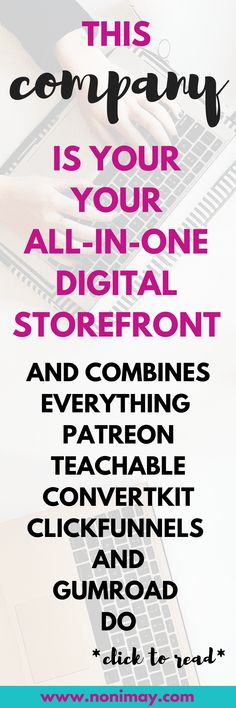 This company is your all-in-one digital storefront and combines everything. Patreon, Teachable and Convertkit Business Advice, Online Business, Business Leaders, How To Become Successful, Blogger Tips, New Things To Learn, Management Tips, Blogging For Beginners, Make Money Blogging