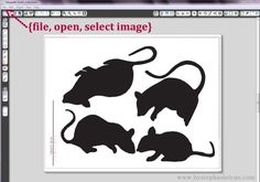 Under The Table and Dreaming: Cut Your Own Martha Stewart Paper Mice Stair Decorations {using the Silhouette}