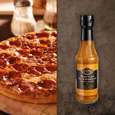 Need more heat on your pepperoni #pizza? Spice it up with our new Peruvian Aji Amarillo #hotsauce!