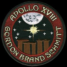 The would've been Apollo 18 mission patch.