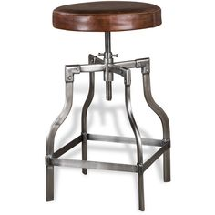Interlude Home Bryce Leather Counter Stool (1,795 SAR) ❤ liked on Polyvore featuring home, furniture, stools, barstools, brown, brown leather counter stools, brown leather barstools, counter height leather bar stools, handcrafted furniture and leather furniture