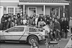 Cast and crew behind the scenes on #BackToTheFuture