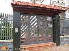 Grill Gate Design, Steel Gate Design, Front Gate Design, Main Gate Design, House Gate Design, Kerala House Design, Victorian House Plans, Victorian Homes, Gate Designs Modern
