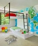 bunk bed with hanging design