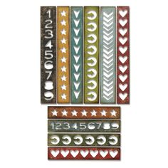 Sizzix Ellison Europe Movers and Shapers L Die/ /Kisses Set by Tim Holtz
