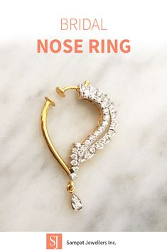 Indian diamond nose ring, perfect for indian weddings. Click to find the perfect nose ring