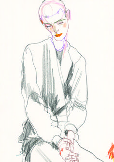Howard Tangye fashion illustration Howard Tangye... | Fashionary Hand