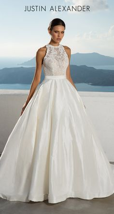Wedding Dress 88001 by Justin Alexander - Search our photo gallery for pictures of wedding dresses by Justin Alexander. Find the perfect dress with recent Justin Alexander photos. Sophisticated Wedding Dresses, Fancy Wedding Dresses, Wedding Dress With Pockets, Elegant Wedding Dress, Perfect Wedding Dress, Bridal Dresses, Wedding Gowns, Backless Wedding, Ivory Wedding