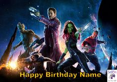 $6.95: Guardians of the Galaxy Edible Image Birthday Cake Topper Personalized 1/4 sheet
