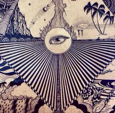 ☯☮ॐ Psychedelic All Seeing Third Eye