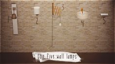 top 5 wall lamps
