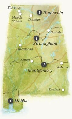 colorful map of alabama - Google Search
