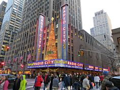 Radio City Music Hall, 1260 Sixth Avenue (between W. 50th St. and W. 51st St.), New York City. Home to delighted audiences since December 27, 1932, the hall got its name from its first tenant, the Radio Corporation of America (RCA). December 14, 2012.