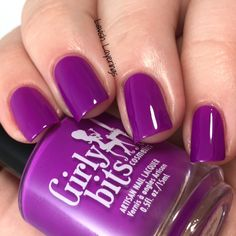 Lavish Layerings: Girly Bits Hoop! There It Is Collection (My Picks) Hip Hoop Hooray! is a neon magenta-leaning violet creme.