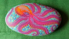 Octopus painted rock