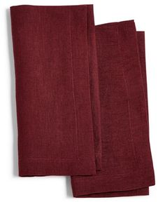 Hotel Collection Modern Wine 2-Pc. Linen Napkin Set, Created for Macy's