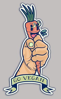 Go Vegan Sticker (5) on Behance