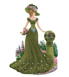 personnages, illustration, individu, personne, gens Victorian Women, Victorian Fashion, Vintage Fashion, Vintage Art, Vintage Ladies, Beautiful Dresses, Nice Dresses, Thomas Kinkade, Glamour