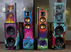 Painted Speakers