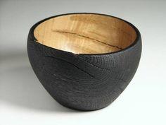 Tracy Turner -- charred turned oak bowl