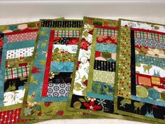 Holiday Table Jovial Christmas Quilted Placemats Set by vschwam,