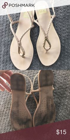 Dolce vita nude sandals, gold hardware 7.5 Worn twice, cute nude dolce vita braided sandals, size 7.5; not sure how much they originally cost Dolce Vita Shoes Sandals