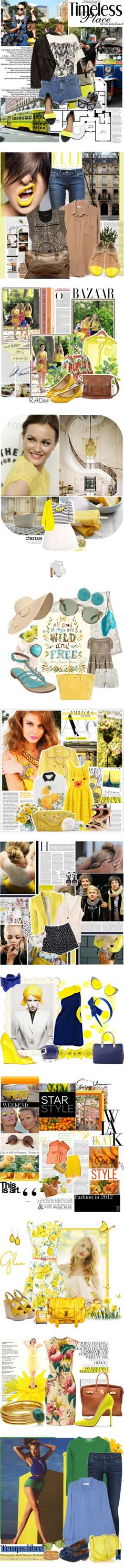 """""""shine yellow"""" by skyekiss ❤ liked on Polyvore"""