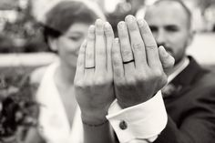 28 Awesome Wedding Band Tattoos; love the illuminated first initial, but I'd still want a diamond