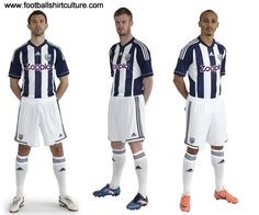 West Bromwich Albion 12/13 adidas home football shirt