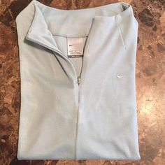 Nike sport top Nike Dri-Fit sport top in a light teal color impeccable condition like new ! Nike Tops Tees - Long Sleeve