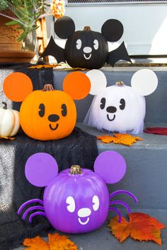 These Mickey-inspired pumpkins are the cutest Halloween decorations around.