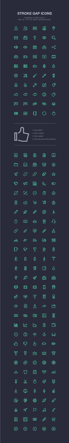Stroke Gap Icons on Behance