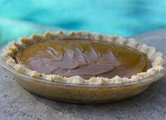 Raw cacao pie with macadamia walnut crust.