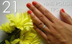 21 Nail Polish Tips - The Beauty Thesis Great Nails, Fun Nails, Nice Nails, Makeup And Beauty Blog, Beauty Nails, Nails At Home, Mani Pedi, Pedicure, Cool Nail Designs