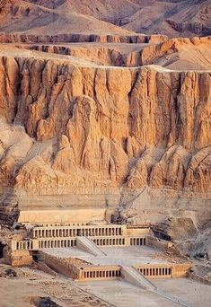 The Mortuary Temple of Queen Hatshepsut, the Djeser-Djeseru, is located beneath the cliffs at Deir el Bahari on the west bank of the Nile near the Valley of the Kings in Egypt Ancient Egyptian Art, Ancient Ruins, Ancient History, Paises Da Africa, Architecture Antique, Old Egypt, Valley Of The Kings, Egypt Travel, Ancient Civilizations