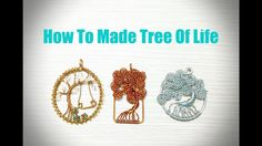 Tree Of Life How to make Tree of life - Wire Jewelry Lessons - DIY - handmade jewelry tutorials - Wire art Want to create beautiful jewellery? Wire jewellery...