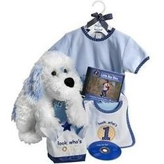Look Who's One - Boy Gift Basket