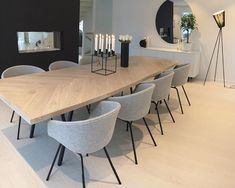 vind-ik-leuks, 66 reacties - Modern Home Dining Room Design, Dining Room Table, Dining Area, Home Living Room, Interior Design Living Room, Living Room Decor, Dining Room Inspiration, House Styles, Home Decor