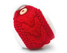 Hand knit mug warmer