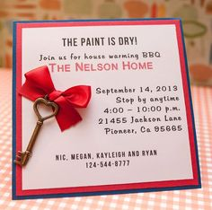 House Warming Party Invitation by EmbellishedPaper on Etsy, $2.50