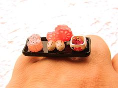 Traditional Japanese Food  Ring by SouZouCreations on Etsy, $15.00