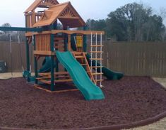 Rubber mulch for kids' play area
