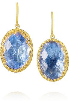 Larkspur & Hawk Small Lily gold-dipped topaz earrings | NET-A-PORTER